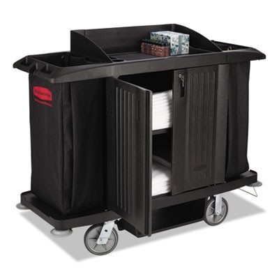 Rubbermaid 6191 Full-Size Housekeeping Cart 3 Shelves