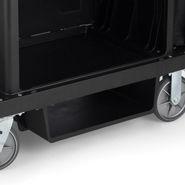 Rubbermaid 6196 Housekeeping Cart Under Deck Shelf Kit - Black