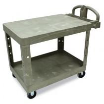 Rubbermaid 4525 Flat Shelf Utility Cart 2-Shelf - Beige