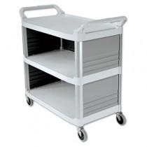 Rubbermaid 4093 Xtra Utility Cart 300-lb Cap. 3 Shelves - Off-White