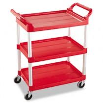 Rubbermaid 3424-88 Utility Cart 3-Shelf - Red