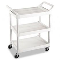Rubbermaid 3424-88 Utility Cart 3-Shelf - Off-White