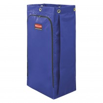 Rubbermaid 1966883 Janitor Cart Replacement Bag, 26 gallon 4/Case- Blue