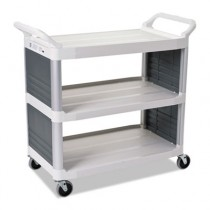 Rubbermaid 4092 Utility Cart 3-Shelf - Off-White