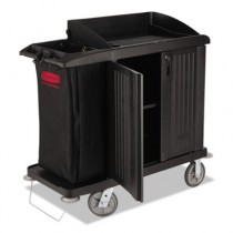 Rubbermaid 6192 Compact Housekeeping Cart with Doors