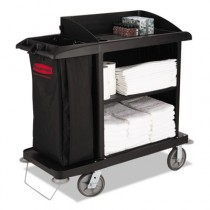 Rubbermaid 6190 Multi-Shelf Cleaning Cart 3 Shelves