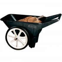 Rubbermaid 5654-61 Big Wheel Cart 3.5 CU FT - Black