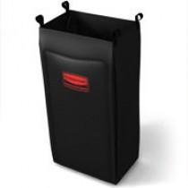 Rubbermaid 6187 Housekeeping Cart-Heavy Duty Bag, Medium, 2 Per Pack - Black