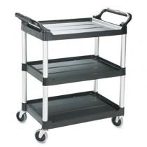 Rubbermaid 3424-88 Utility Cart 3-Shelf - Black