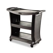 Rubbermaid 9T68 Executive Service Cart 3-Shelf - Black