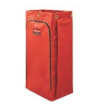 Rubbermaid 1966882 Janitor Cart Replacement Bag, 26 gallon 4/Case - Red