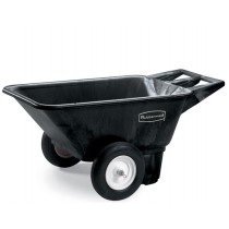 Rubbermaid 5640 Low Wheel Cart 7.5 CU FT - Black