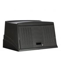 Rubbermaid 9T00 Housekeeping Cart-Protective Security Hood - Black