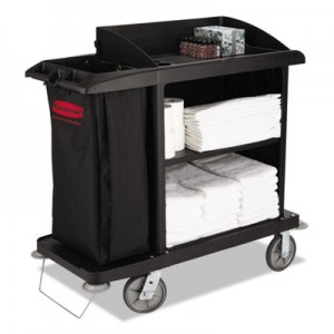 Rubbermaid 6190 Multi-Shelf Cleaning Cart 3 Shelves